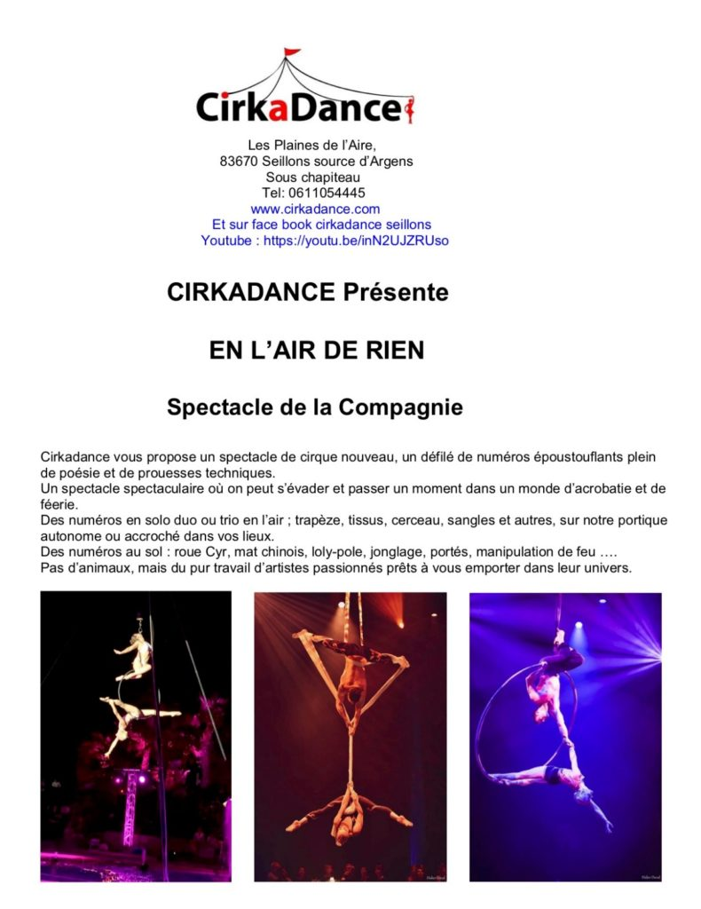 spectacle cirkadance